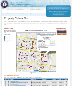 Property Values Map Jefferson County PVA