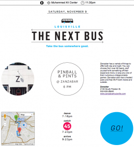The Next Bus, winning product