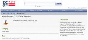 Washing DC Crime Reports App