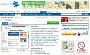 Your Mapper Mashup on Programmable Web